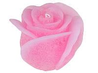 Свеча декоративная Роза Розовая фигурная 15Х11 см Candy Light 029-031