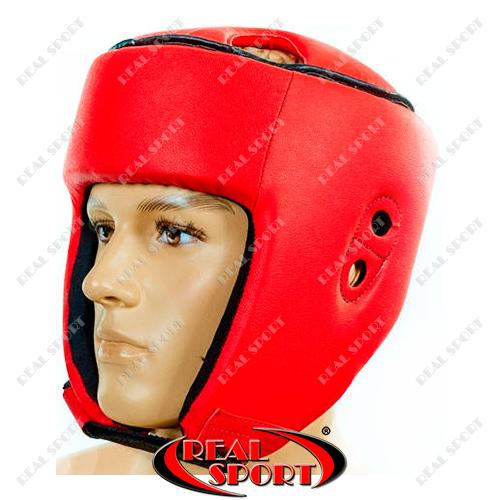 Шлем боксерский открытый Бокс Лев Кожзам LV-4293-R