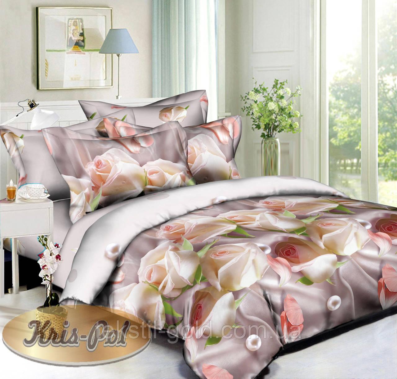 Комплект постельного белья ТМ KRIS-POL (Украина) ранфорс семейный 6118547