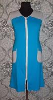 Халат женский из трикотажа с коротким рукавом