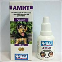 Амит 20мл ушной (амитраз, преднизолон) п/отодектоза