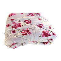 Одеяло полуторное 150/220 шерсть овечья натуральная, ткань поплин