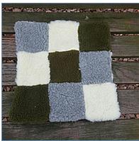Накидка,коврик из меха на стул 40*40см
