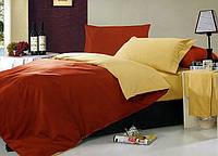 Однотонное постельное белье евро размер