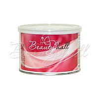 Воск для депиляции в банке роза (Италия) Beautyhall Rose 400 мл
