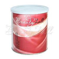 Воск для депиляции кремовой текстуры в банке роза (Италия) Beautyhall Rose 800 мл