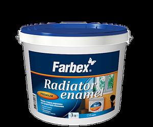 Эмаль стирол-акриловая для радиаторов отопления Farbex 3 л