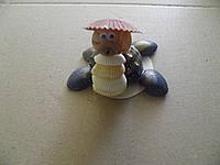 Сувенир игрушка черепашка ,ручная работа хенд мейд высота 7 см