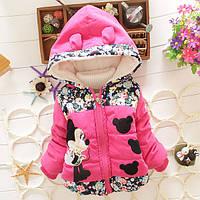 Демисезонная куртка для девочки малиновая на молнии