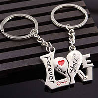 Два брелка для влюблённых - Надпись LOVE разделенная на два брелка SKU0000574, фото 1