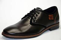 Мужские кожаные туфли Lux черные, фото 1