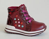 EEBB арт.516 т.красный     Демисезонные ботинки для девочек.