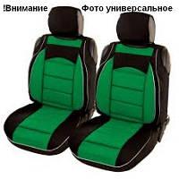 Майки сидения передние PILOT В зелено - черные закрытые с подголовником, фото 1