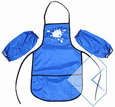 Фартух ECONOMIX 61490-11 для дит. творч. (3-7р) з нарукавниками блакитний 50см*30см (1/)