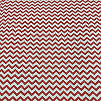 Ткань с красным мини-зигзагом, ширина 160 см, фото 1