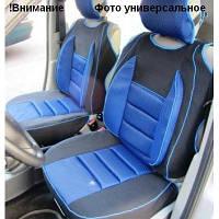 Майки сидения передние PILOT В сине- черные закрытые с подголовником
