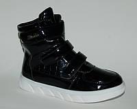 Jong.Golf арт.C6150-0 черный     Демисезонные ботинки для девочек.