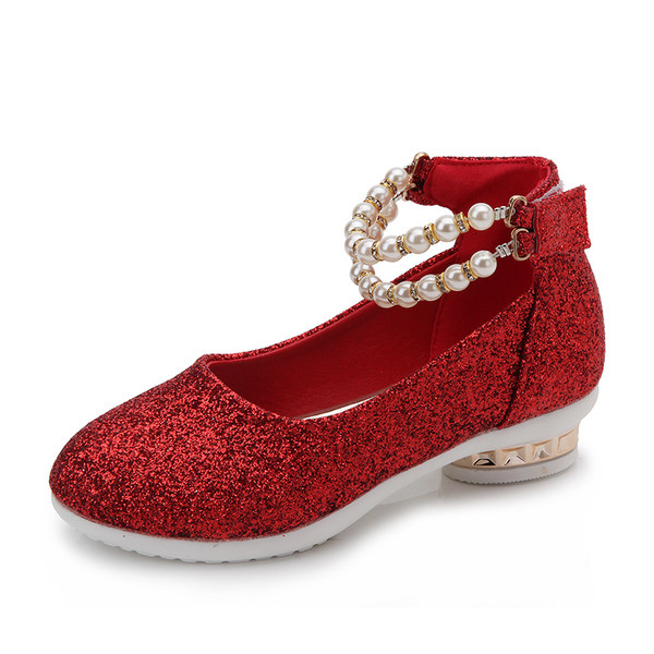 Детские туфли жемчуг