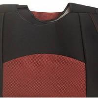 Майки сидения передние Авто Світ (В) красно- черные закрытые на поролоне с подголовником