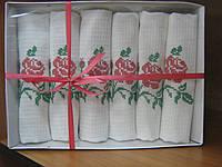 Сервировочные полотенца с красной розой.100% хлопок