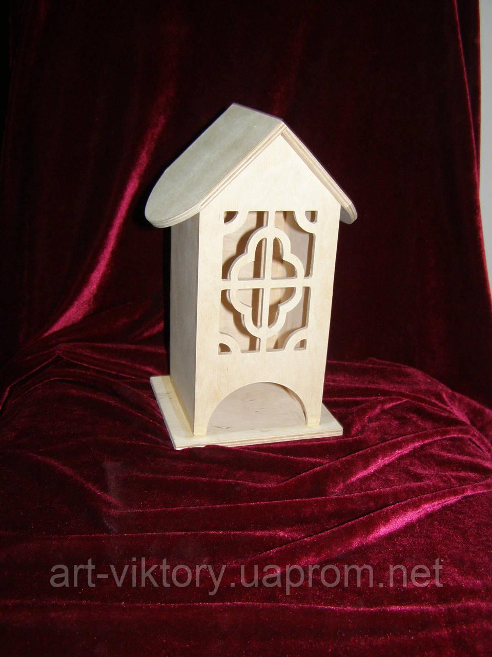 Коробка для хранения чайных пакетиков фигурные окна (10 х 10 х 23 см)