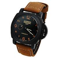Механические керамические часы Panerai Luminor GMT - Ceramica, цвет корпуса черный