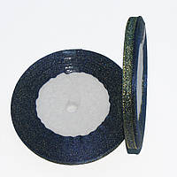 Лента парчевая цветная 0,6 см.(23м.) Синяя