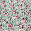 Ткань с мелкими розовыми цветочками на бежевом фоне, бязь, хлопок