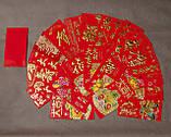 """Денежный Конверт """" Красный с золотым тиснением """" 9х16,5см ( набор 3 шт.), фото 2"""
