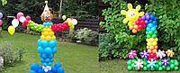 Яркое оформление воздушными шарами детского праздника