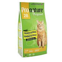 Pronature Original (Пронатюр Ориджинал) С КУРИЦЕЙ сухой супер премиум корм для взрослых котов 2.72 кг.