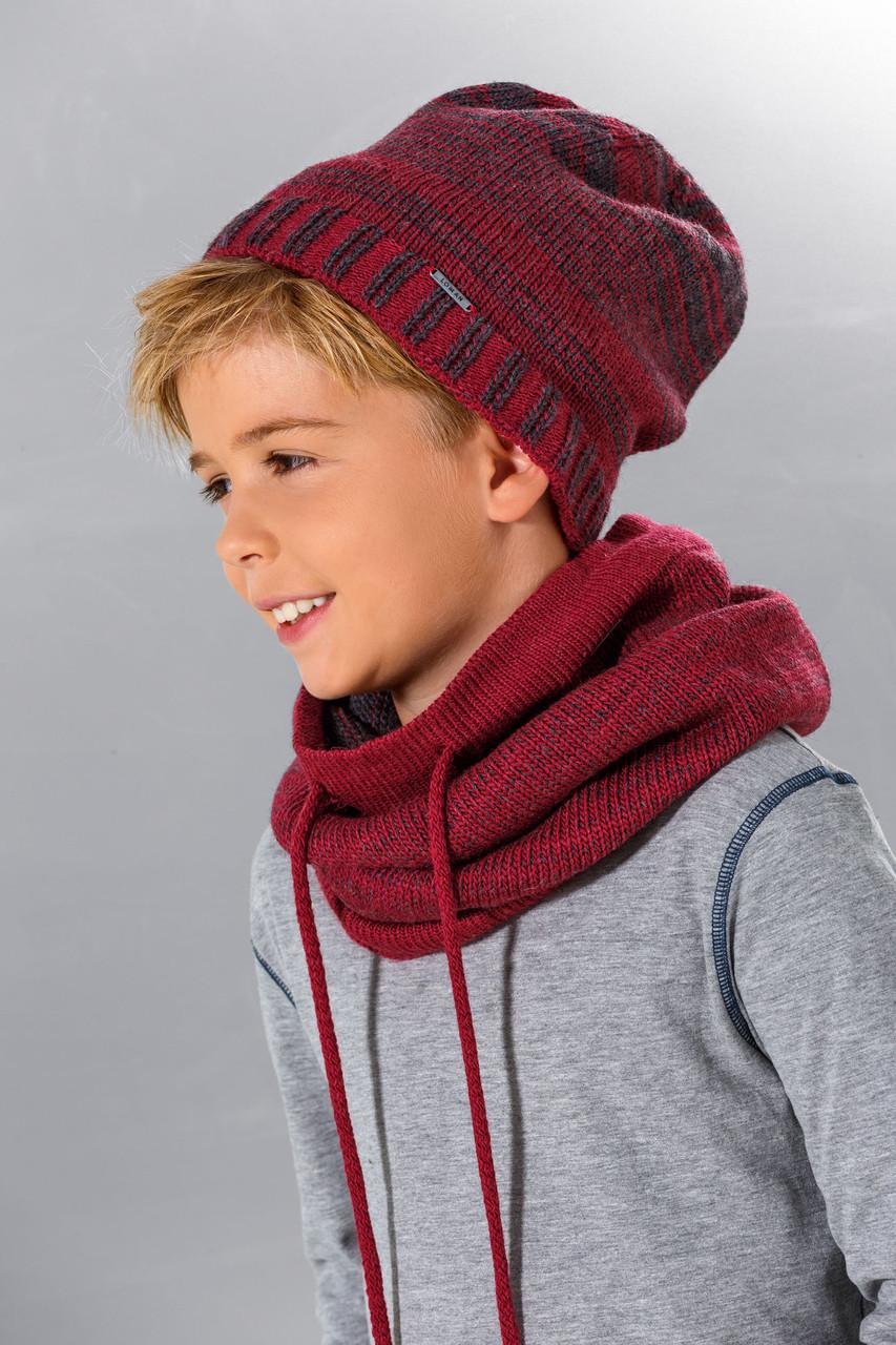 Модный вязанный детский шарфик - хомут для мальчика подростка от Loman Польша