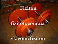 Гантели 2 по 14 кг стальные + порошковая покраска, фото 1