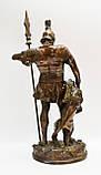 Старая бронзовая скульптура, преторианец, римский воин, бронза 42 см, фото 3