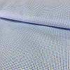 Ткань с мелким голубым горошком на белом фоне, хлопок