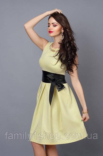 f1c5b6651d3 Нежное женское летние платье-клеш за колено.  продажа