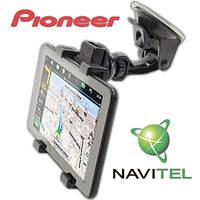 GPS навигатор Pioneer 3G Wi-Fi 2 SIM 1 GB RAM Android 4.4  + Автокомплект : держатель + З/У + Пленка + Карты