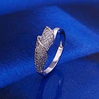 """Кольцо XP родий  """"Поцелуй лилии""""  размер 16,5 см, Luxury, фото 1"""