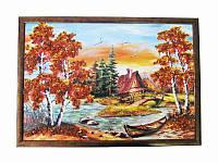 Картина из янтаря Избушка лесная (Картины и иконы из янтаря)