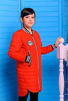 Детская весенняя куртка Бомбер рр116-152
