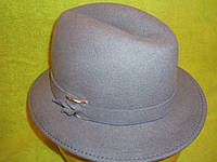 Шляпы фетровые итальянки р-р 58, серый