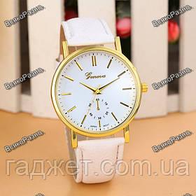 Женские часы  Geneva белые.