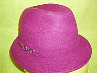 Шляпы фетровые итальянки р-р 57,58, фуксия цвет