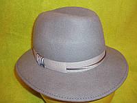 Шляпы фетровые итальянки р-р 57, светлосерый цвет