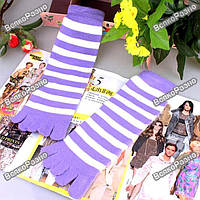 Носки с пальцами в полосочку