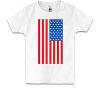 Детская футболка с американским флагом