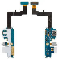 Шлейф для мобильного телефона Samsung I9105 Galaxy S2 Plus, микрофона, коннектора зарядки, с компонентами