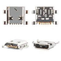 Коннектор зарядки для мобильного телефона Samsung I8160 Galaxy Ace II, 6 pin, micro-USB тип-B