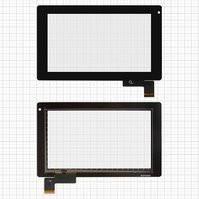 "Сенсорный экран для планшетов China-Tablet PC 7""; GoClever Tab R74; Prestigio MultiPad 7.0 Ultra (PMP3370B), 7"", 51 pin, емкостный, черный, (187*112"