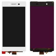 Дисплей для мобильных телефонов Sony E6533 Xperia Z3+ DS, E6553 Xperia Z3+, Xperia Z4, белый, с сенсорным экраном